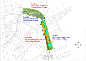 Fischereibeschränkungen Wattenheimer Brücke